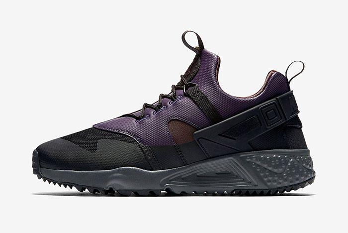 Nike Air Huarache Utility Black Purple Brown 3