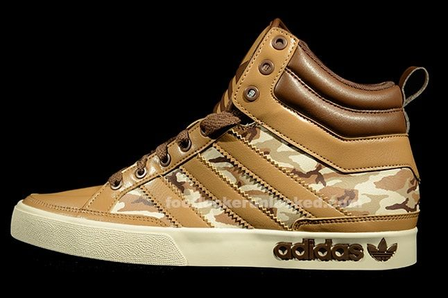 Adidas Top Court Camo Khaki Profile 1
