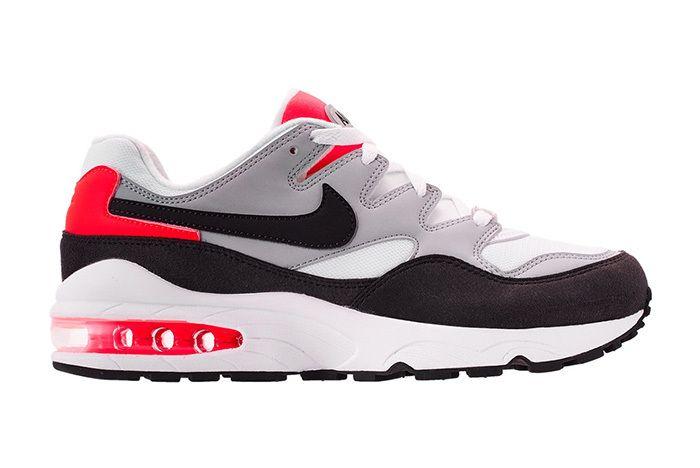 Nike Air Max 94 747997 006 Wolf Grey Black White Bright Crimson Sneaker Freaker