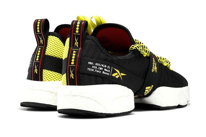 Adidas Reebok Sole Fury Boost Black Hyper Green Red Fw0167 Release Date Heel