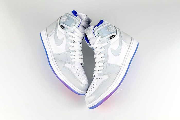 Air Jordan 1 High Zoom R2 T White Racer Blue Ck6637 104 Pointed