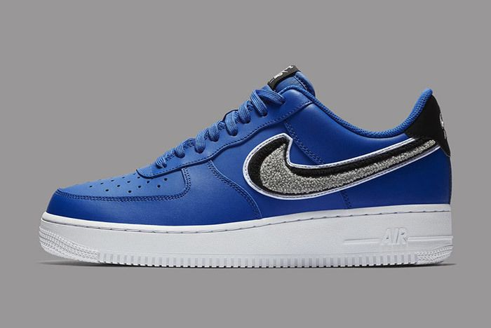 Nike Air Force 1 Low 3D Chenille Swoosh Blue 2
