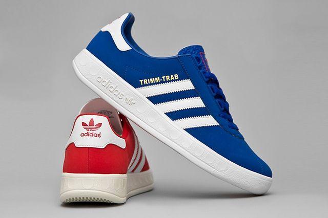 Portavoz máquina Prehistórico  adidas Originals Trimm-Trab (Red And Blue) - Sneaker Freaker