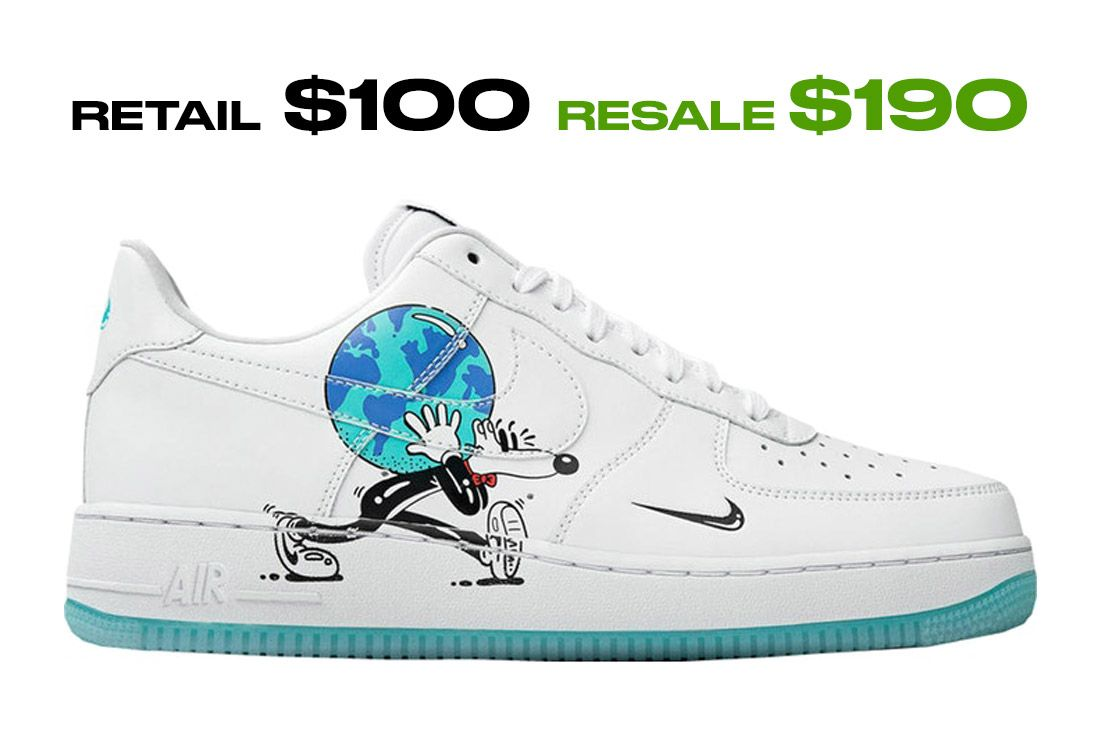 Stockx Resale Nike Air Force 1 Earth Day Right Side Shot