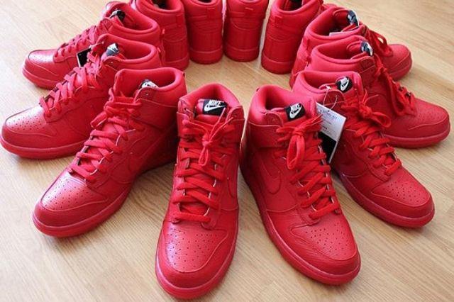Nike Dunk High Red Wood Grain 1
