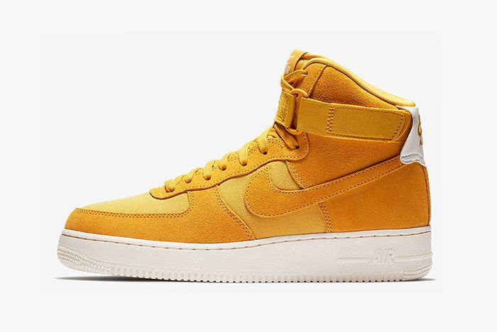 Nike Air Force 1 Hi Suede Pink Blue Yellow 4 Sneaker Freaker