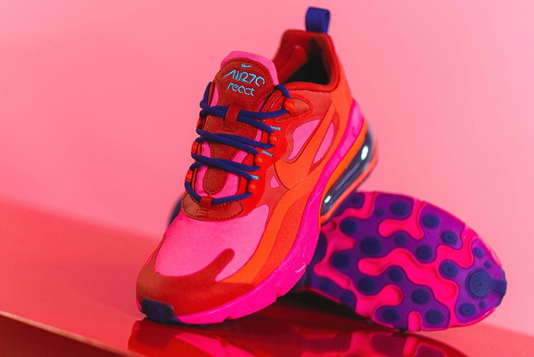 Nike Wmns Air Max 270 React Mystic Pink At6174 Three Quarter Angle Shot