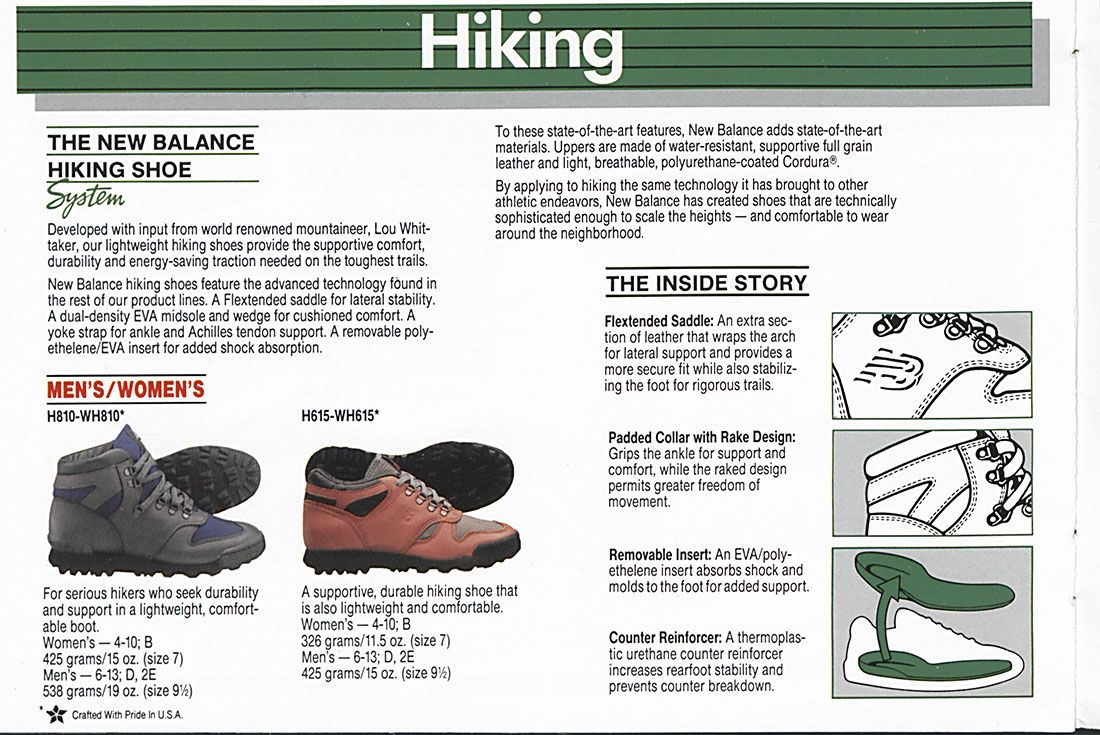 New Balance H810 Vintage Catalogue