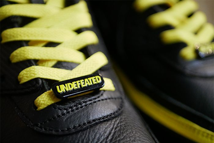 Undefeated Nike Air Max 90 Black Optic Yellow Leak Cj7197 001 Release Date Laces