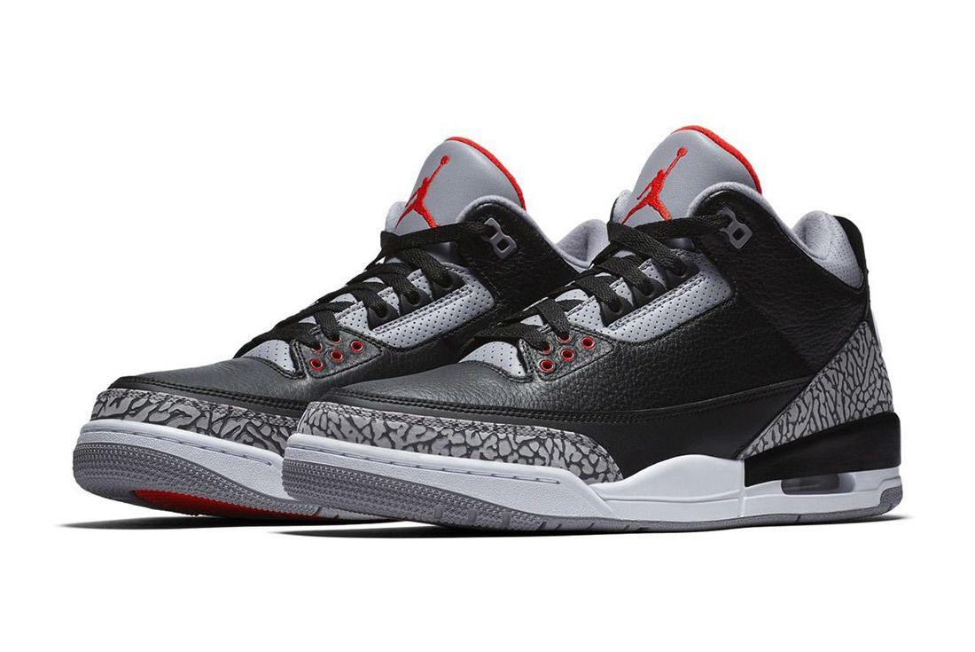 Nike Air Jordan 3 Black Cement Official Images Release Date Sneaker Freaker 1