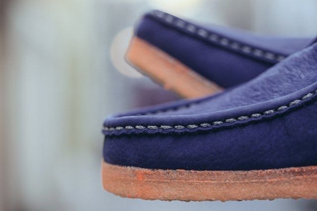 Doom Clarks Wallabee Boot Navy Bumper 3