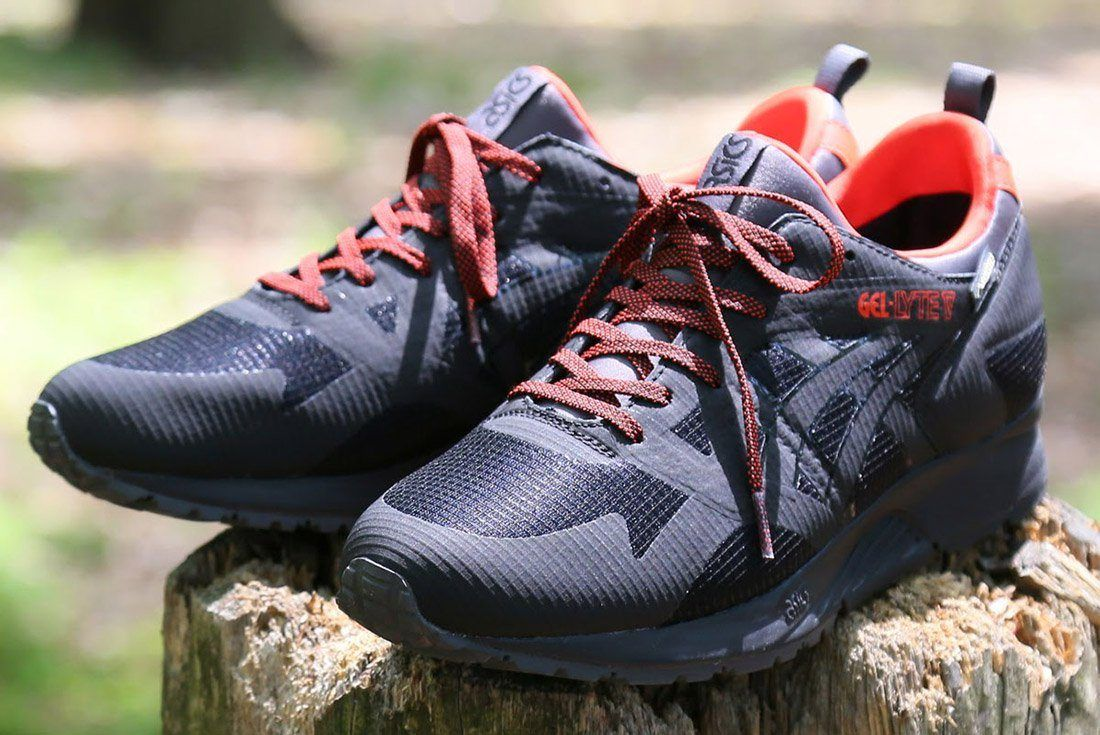 Asics Gel Lyte V Gore Tex Black Red 7