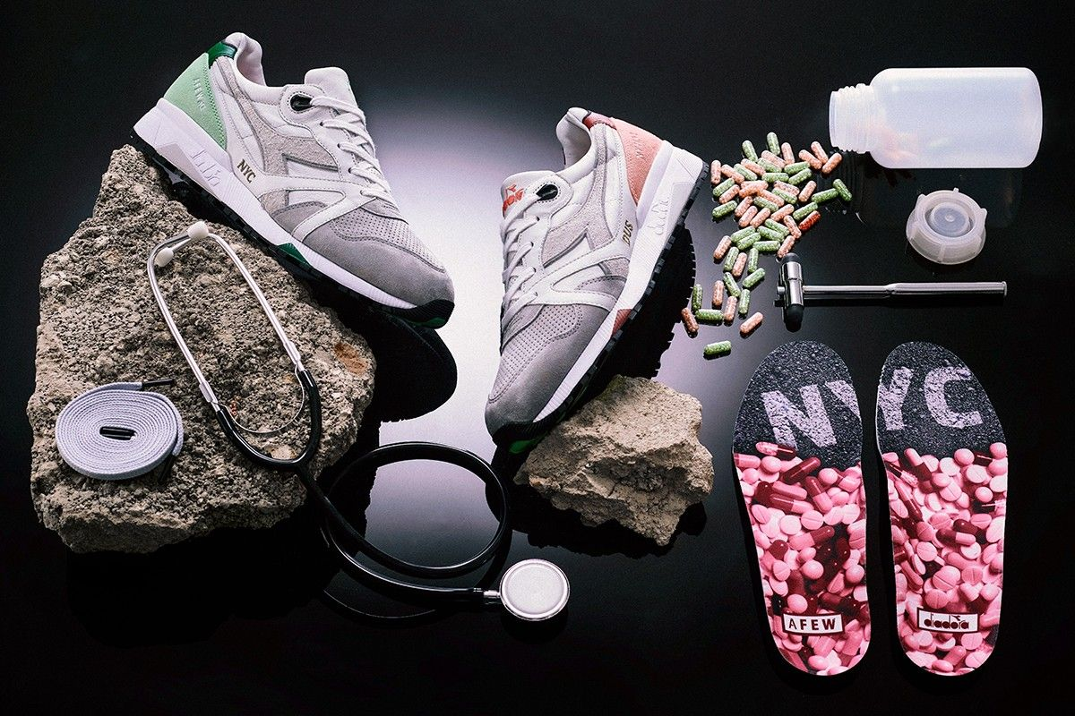 Afew x Diadora N9000 Highly Addictive NYC Angled