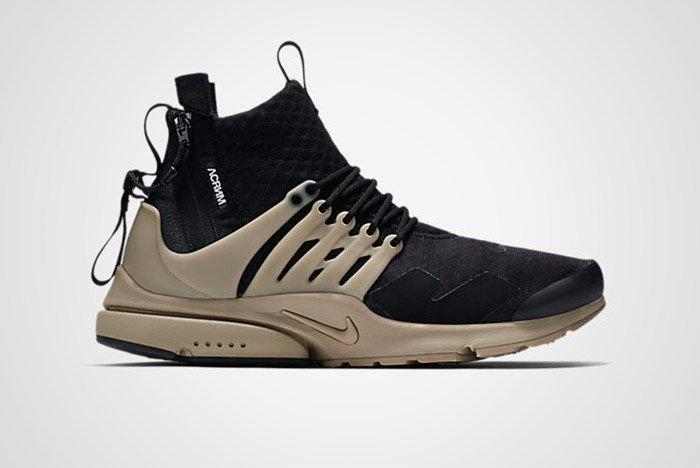 Acronym Nike Air Presto Mid Black Bamboo Thumb