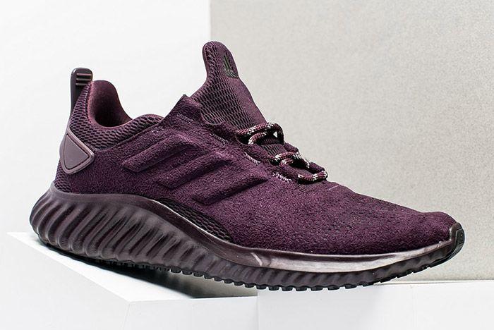 Adidas Alphabounce Suede Burgundy Womens 3