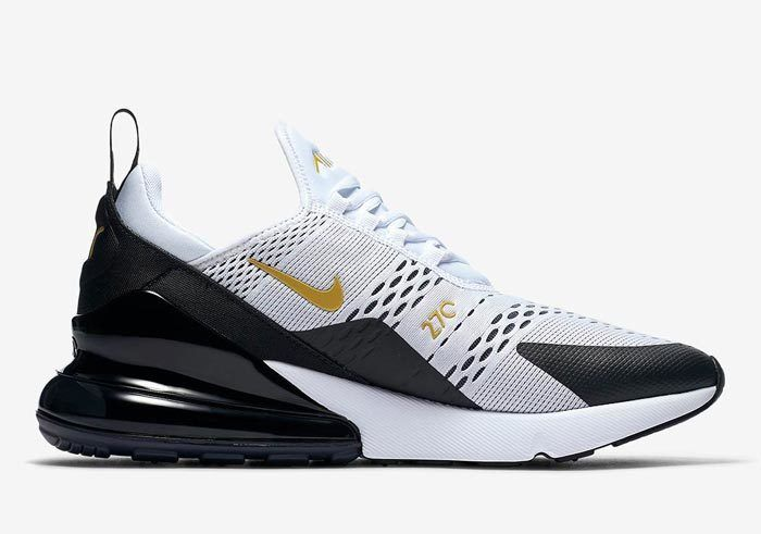 Nike Air Max 270 White Black Gold Av7892 100 3 700