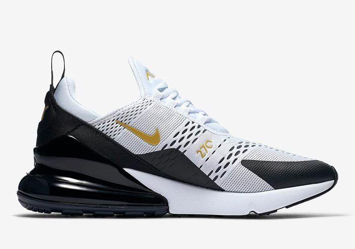 Nike Air Max 270 White Black Gold Av7892 100 3 700