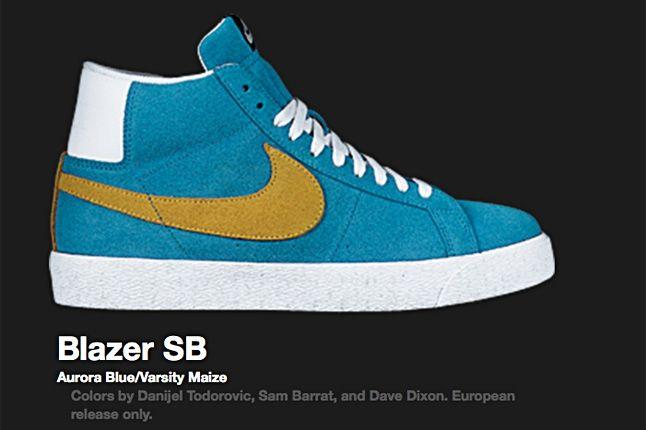 Nike Blazer Sb Aurora Blue 2008 2