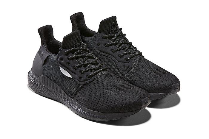 Pharrell Adidas Solarhu Greyscale Pack Off Black Eg788 Release Date Pair