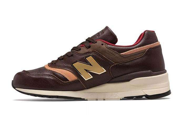 New Balance Made In Usa 997 Brown And Tan Left Side Shot