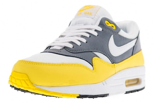 Nike Air Max 1 Essential Cool Grey Yellow 3 1