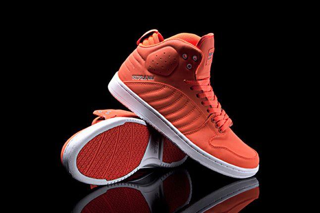 Supra S1W Fluroescent Orange Midfoot Hero 1