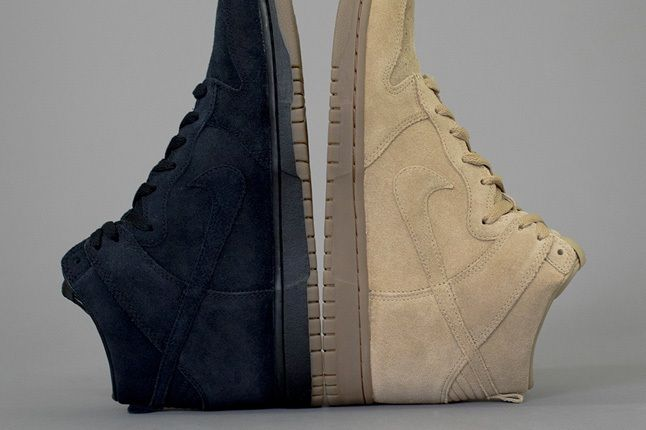 A P C X Nike Spring 2013 Collection Tan And Blue Dunks 1