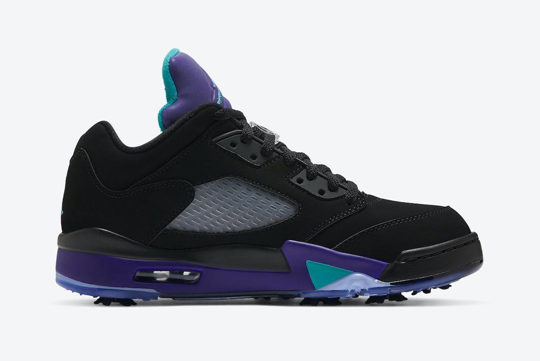 Air Jordan 5 Golf 'Black Grape'