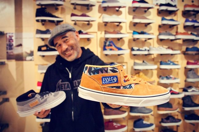 Steve Caballero With Half Cab And Vans Wall 1