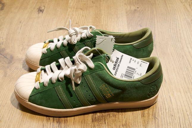 Adidas Superstar Green Suede Consortium 1