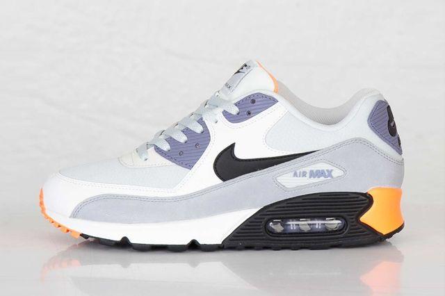 Nike Air Max 90 Essential Iron Purple Atomic Orange 7
