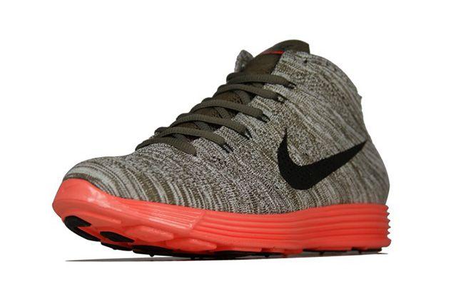 Nike Lunar Flyknit Chukka Tarp Green Total Crimson Toe 1