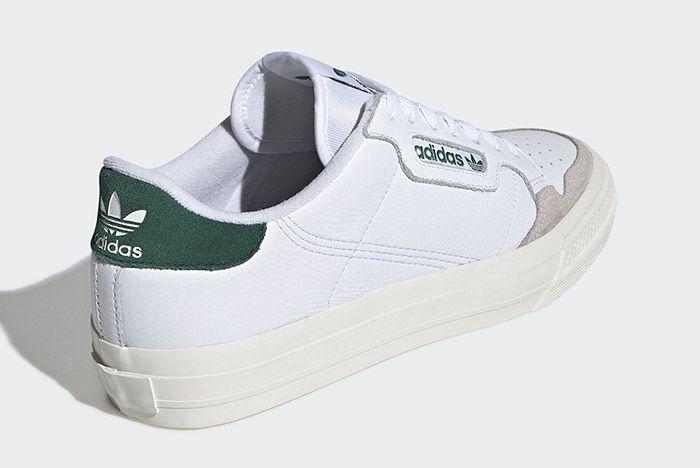 Adidas Continental Vulc White Green Heel