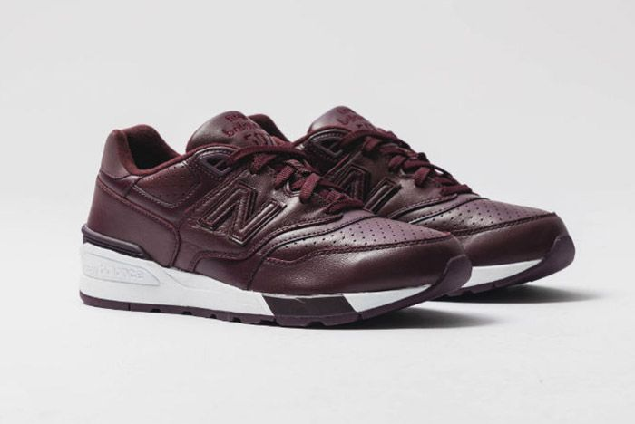 New Balance 597 Burgundy Leather 8