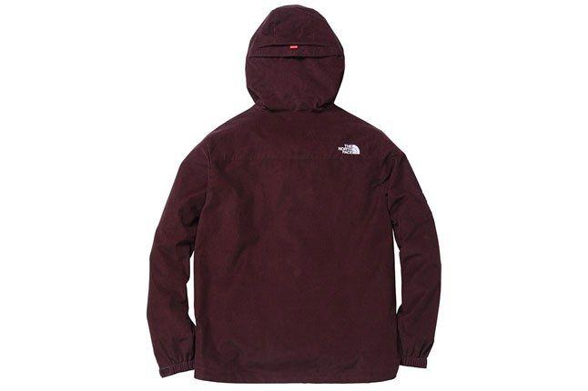 Supreme North Face Burgundy Jacket Back 1