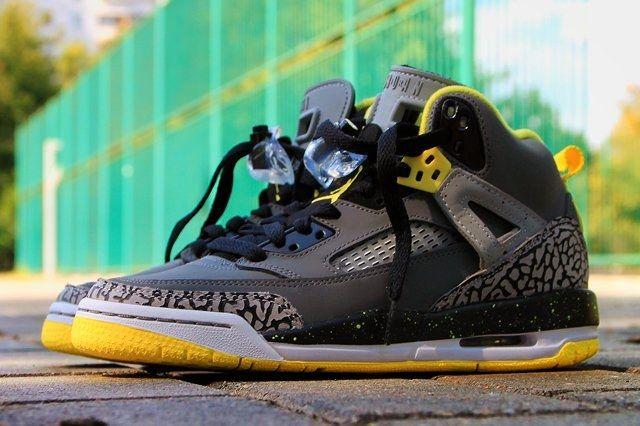 Air Jordan Spizike Yellow Grey Black 2