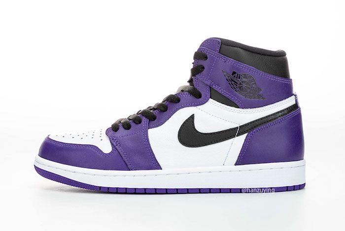 Air Jordan 1 Court Purple Left 3