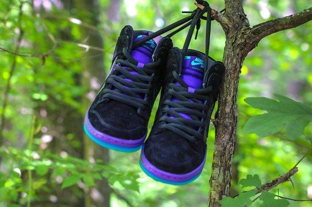 Nike Sb Dunk Hi Black Grape Bumper 2