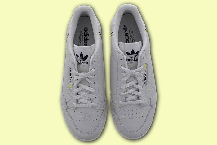 Adidas Continental 80 Grey Yellow 3