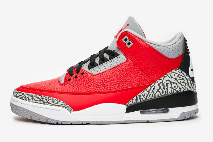 Air Jordan 3 Red Cement Left