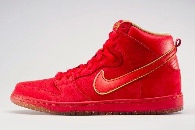 Nike Dunk High Premium Sb Red Profile
