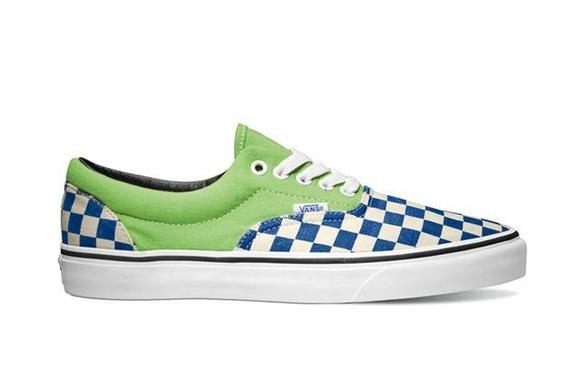 Vans Van Doren Series Era Checker Green Flash 1