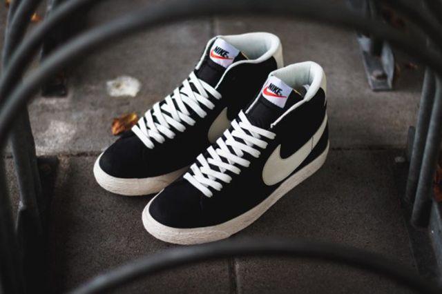 Nike Blazer Mid Premium Vintage Black White 3
