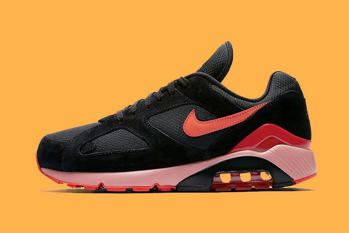 Nike Air Max 180 Black Team Orange University Red Av3734 001 Release Date Sneaker Freaker