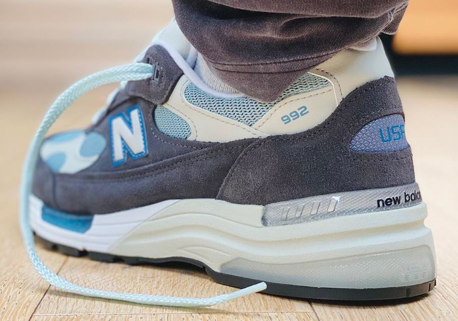 Kith x New Balance 992 Steel Blue Left