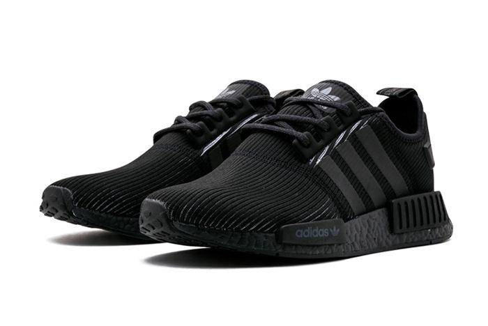 Adidas Nmd R1 Triple Black Ribbed