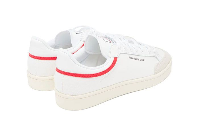 Adidas Americana Low White Red Rear Angle