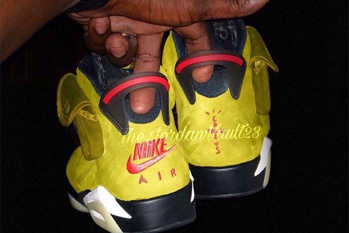 Travis Scott Air Jordan 6 Yellow Heel