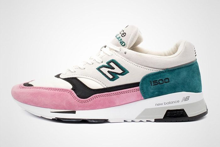 New Balance 1500 Made In England Teal Pink White Black 6