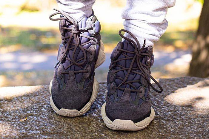 Adidas Yeezy 500 High Slate On Foot Front Shot